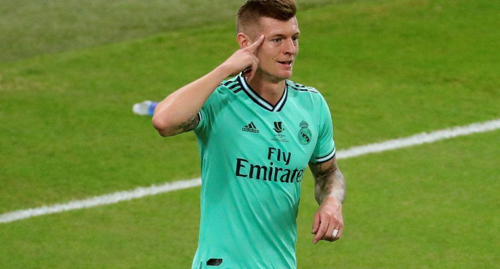 Toni Kroos convirtió golazo olímpico en la semifinal de la Supercopa de España   Foto: EFE
