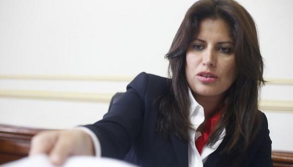 La congresista Carmen Omonte renunció a la bancada de APP el 17 de noviembre (Foto: Dante Piaggio).
