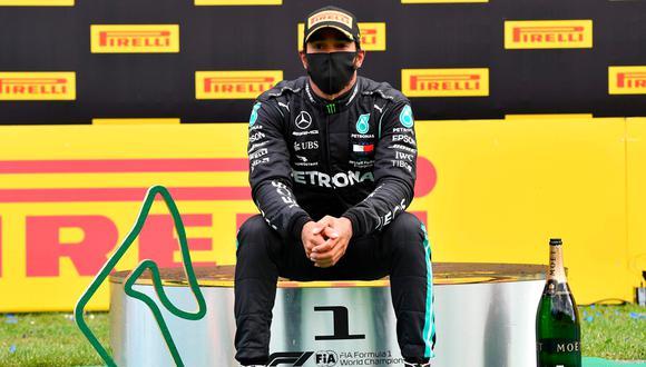 Lewis Hamilton dominó el GP de Estiria   Foto: AP/EFE/AFP