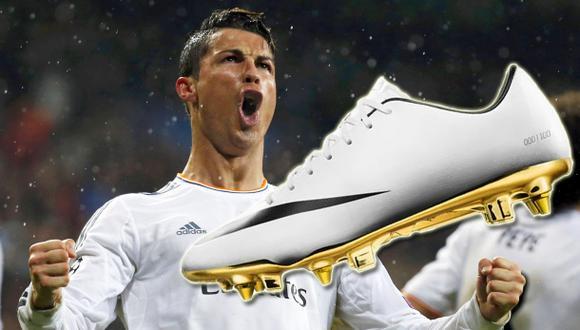 Cristiano Ronaldo y sus chimpunes con 'suela de oro'