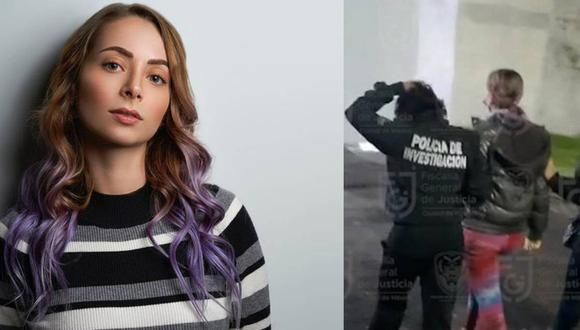 La popular influencer YosStop fue detenida en México. (Fotos: Instagran y captura de la Fiscalia de Ciudad de México)