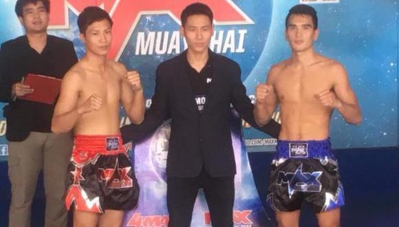 Esta será la segunda pelea de Nicolás Young (der.) en el evento Max Muay Thai de Tailandia. (Foto: Max Muay Thai)
