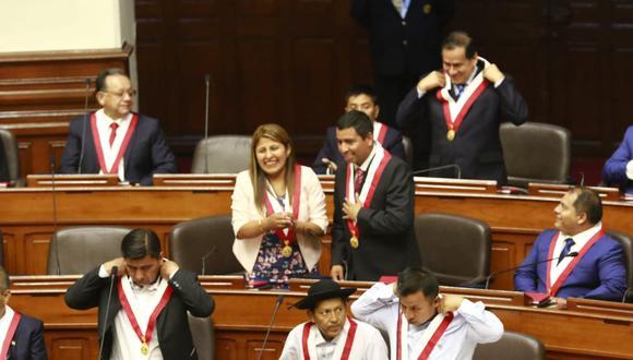 """La bancada de Unión por el Perú (UPP) presentó un proyecto par modificar el artículo 137 de la Constitución Política referido al estado de emergencia y de sitio, a fin de calificar como traición a la Patria, """"cualquier delito cometido en agravio del Estado"""" en el marco de la pandemia por el coronavirus (COVID-19). (Foto: Congreso)"""