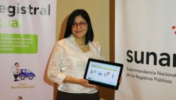 Sunarp presentó plataforma para solicitudes de inscripción