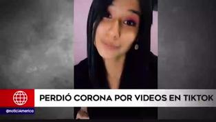 Miss Perú Junín perdió corona por publicaciones en TikTok