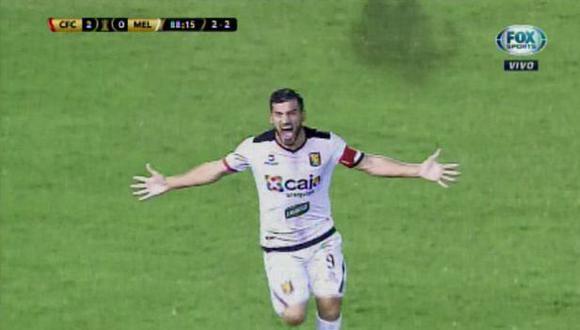 Melgar vs. Caracas: el gol de Bernardo Cuesta que clasificó a los arequipeños en Venezuela a la fase de grupos de la Copa Libertadores 2019. (Foto: captura)