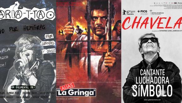"""Recomendaciones para este Martes de Cine: El cortometraje """"María T-ta"""", el documental """"Chavela"""" y la película """"Alias 'La Gringa'"""". (Imágenes: Retina Latina y Netflix)"""