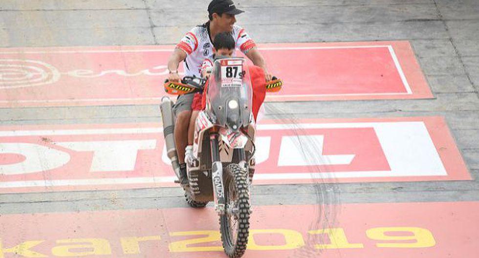Lalo Burga corre el Dakar a bordo de una moto KTM. (Foto: Itea)