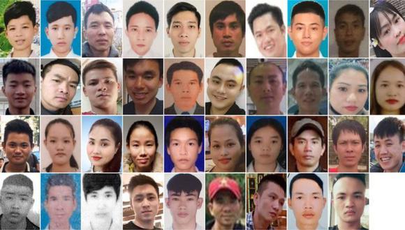 39 personas murieron en el remolque de un camión mientras cruzaban el Mar del Norte.