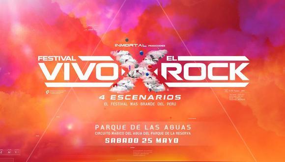 Vivo X el Rock volverá en 2019 con más bandas. (Foto: Difusión)