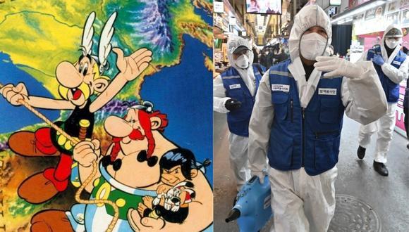 "Astérix y Obélix supera a ""Los Simpson"" en predecir la llegada del coronavirus a Italia. (Foto: Twitter/AFP)"
