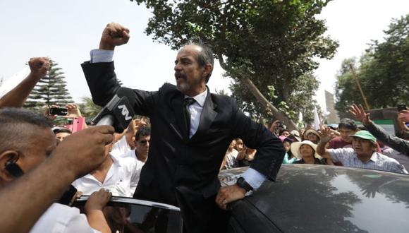 El cortejo fúnebre de Alan García tuvo como parada final el camposanto de Huachipa para la ceremonia de cremación de sus restos. (Foto: GEC)