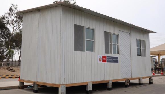 La medida se replicará en todos los hospitales de país con un total de 244 módulos temporales. Para Tumbes se destinó 15 estructuras. (Foto: Ministerio de Vivienda)