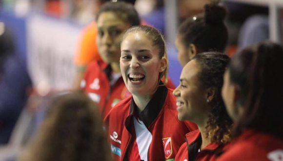 Raffaella Camet se mostró muy contenta luego de reaparecer con la selección peruana. (Foto: ITEA)