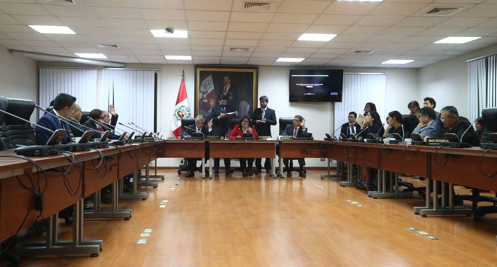 La congresista Janet Sánchez (Contigo)  continuará a cargo de la presidente de la comisión de Ética Paramentaria como lo hizo el año anterior. (Foto: GEC)