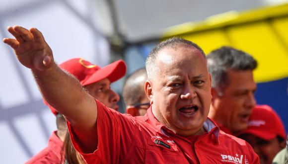 El número 2 del chavismo Diosdado Cabello. (Foto: Federico PARRA / AFP).