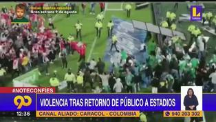 Colombia: Reapertura de estadio termina con batalla campal en la cancha