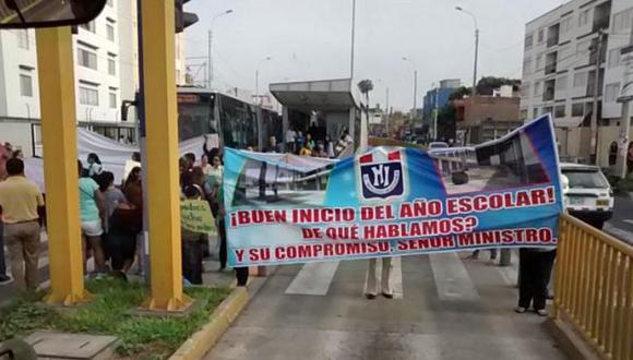 Barranco: vía del Metropolitano fue bloqueada por protesta