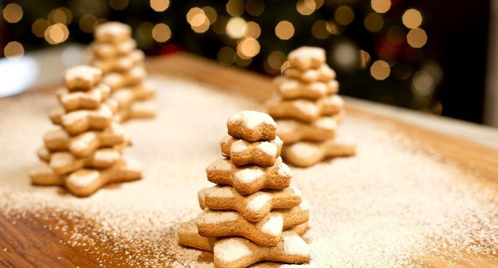 Galletas en forma de árbol de navidad. (Foto: Kiwilimón)