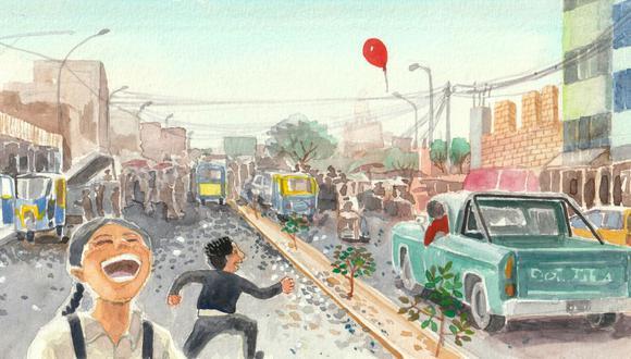 """Ilustración de Miguel Ortiz para el libro """"Érase dos veces"""" de José Miguel Vásquez (Pesopluma, 2021)."""
