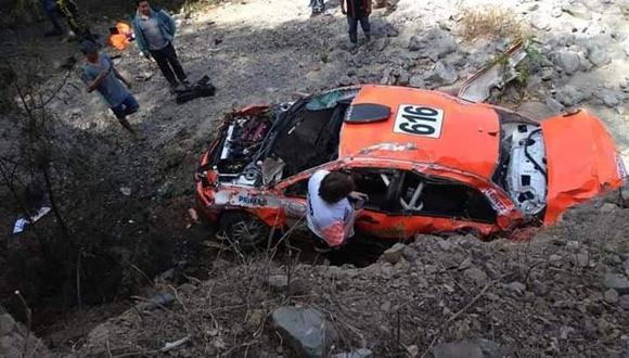 Caminos del Inca: Raúl Orlandini sufrió terrible despiste. (Foto: Facebook Lucho Mendoza)