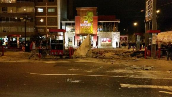 Magdalena: explosión se registró en grifo de Av. Javier Prado