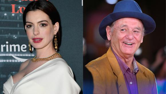 "Anne Hathaway y Bill Murray protagonizarán ""Bum's Rush"" de Aaron Schneider. (Foto: AFP)"