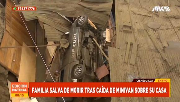 De acuerdo a ATV Noticias, el conductor identificado como Alfonso Benuy Ortiz se encontraba en estado de ebriedad. (ATV)