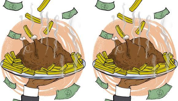 """""""El precio del ave también ayuda a monitorear variables como la inflación o el consumo interno en el país"""". (Ilustración: Giovanni Tazza)"""
