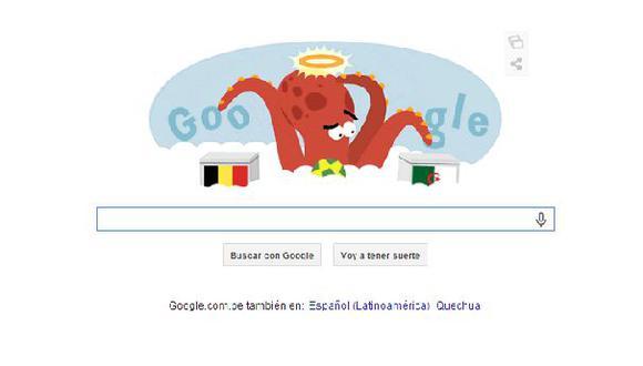 Brasil 2014: Google recuerda al 'Pulpo Paul' en un 'doodle'