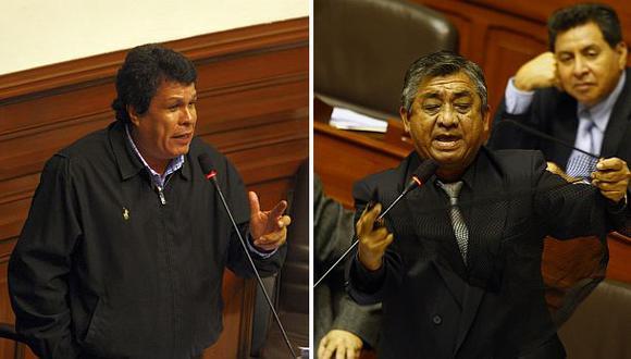 Heriberto Benítez (izq.) y Víctor Crisólogo (der.) están en la mira de la fiscalía por el Caso 'La Centralita'. (Fotos: Archivo El Comercio)