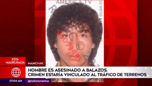 Omar Pinto Herrera recibió cuatro impactos de bala en el pecho. (Captura: América Noticias)