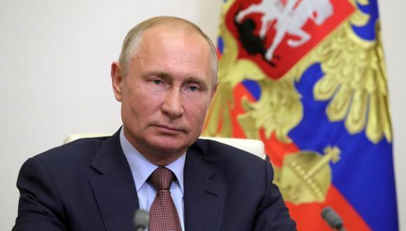 El mandatario ruso brindó su conferencia anual en la que también habló de la vacuna contra el coronavirus. (Foto: AFP)