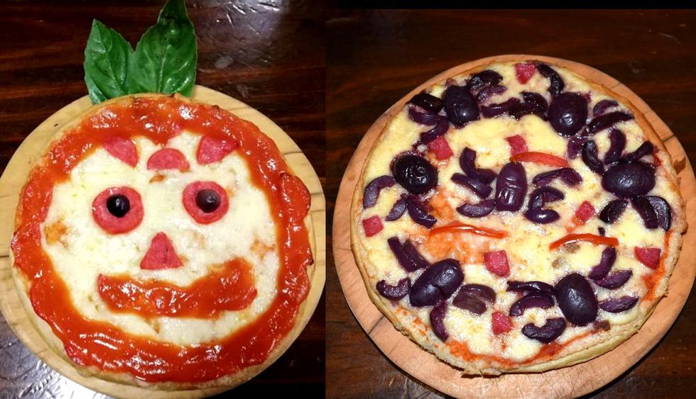 Divertidas y creativas pizzas de Halloween. (Foto: Difusión)