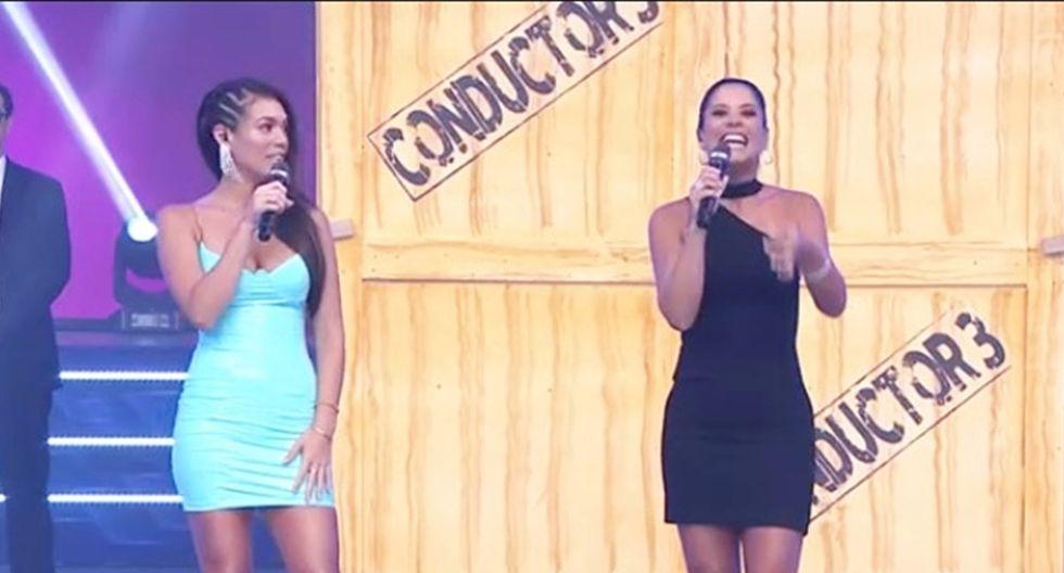 """María Pía Copello y Jazmín Pinedo en el regreso de la primera a """"Esto es guerra""""."""