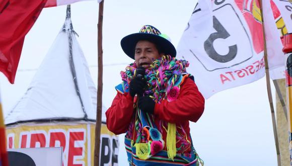 Pedro Castillo durante un mitin en Puno. (Foto: Perú Libre)