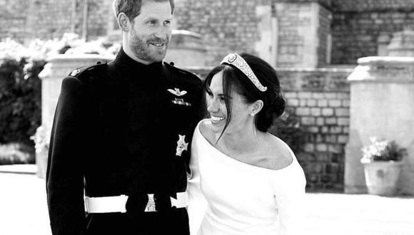 Enrique y Meghan de Sussex en el día de su boda. (Foto: Instagram | Archewell)