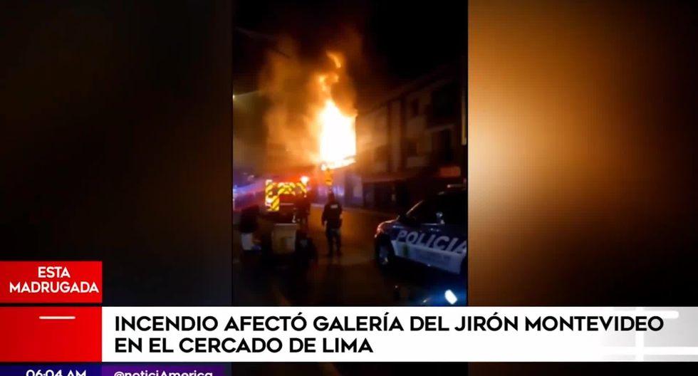 Cercado de Lima: incendio consumió galería comercial del jirón Montevideo - El Comercio