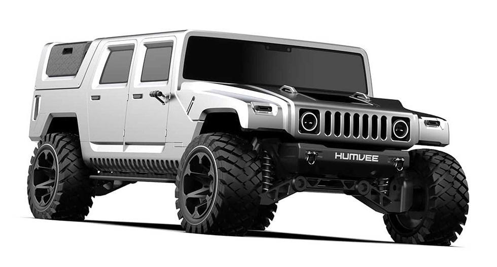 Un diseñador independiente ha creado una versión moderna del Hummer H1. Existen dos opciones: con caja de carga cubierta y otra tipo pick up. (Fotos: Samir Sadikhov)
