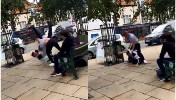 Campeón de jiu-jitsu le dio una paliza a hombre que lo atacó en la calle. (Foto: @ActualidadRT / Twitter)
