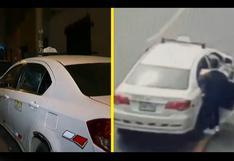 VES: hallan taxi que usó delincuente para robar mercadería de un pasajero valorizada en 10 mil dólares