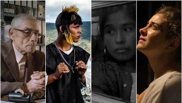 """Algunas de las candidatas latinoamericanas a Mejor película internacional en los Oscar 2021: """"El agente topo"""" (Chile), """"Ya no estoy aquí"""" (México), """"Canción sin nombre"""" (Perú) y """"Los sonámbulos"""" (Argentina). (Foto: Motto Pictures/Netflix/Digicine)"""