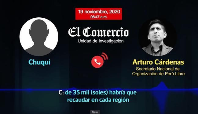 Arturo Cárdenas, secretario de Organización de Perú Libre, fue uno de los dirigentes que coordinó el pago de la reparación civil de Vladimir Cerrón.