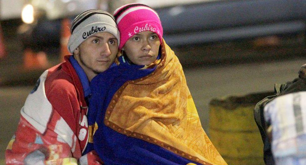"""Venezolanos varados en frontera piden una """"ruta humanitaria"""" hacia el Perú. (Foto: Reuters)"""