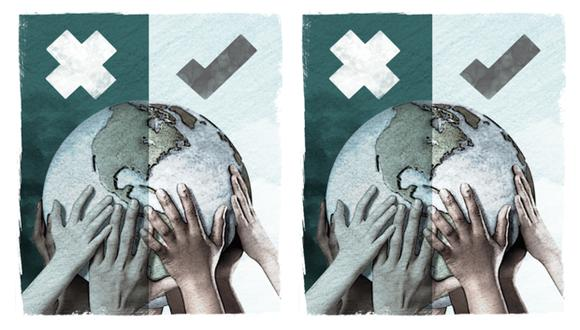 """""""Desde la Segunda Guerra Mundial, Estados Unidos, por ejemplo, ha estado involucrado en varias guerras, pero ninguna fue necesaria para su supervivencia"""". (Ilustración: Rolando Pinillos Romero)."""