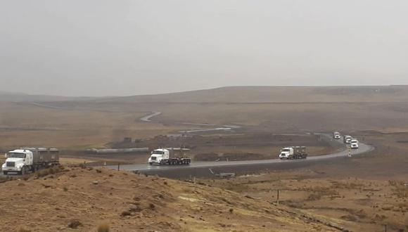 Por el corredor minero transitan convoyes de la mina Las Bambas hacia el puerto de Matarani, en Arequipa. (Foto: MMG Las Bambas)