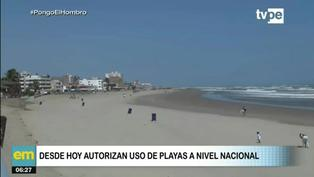 Gobierno autoriza el uso de playas a nivel nacional