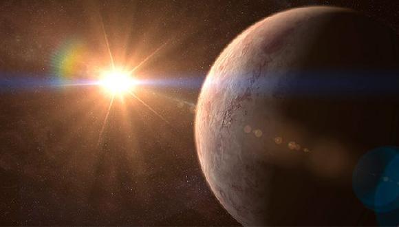 Representación del planeta GJ 536 b orbitando su estrella. (Foto: IAC)