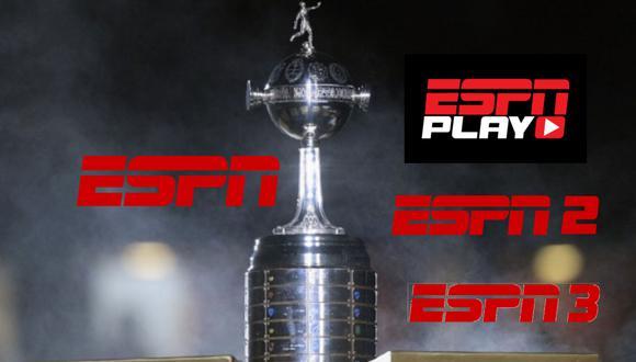 ESPN es el canal encargado de transmitir en vivo y en directo todos los partidos de la Copa Libertadores 2021.