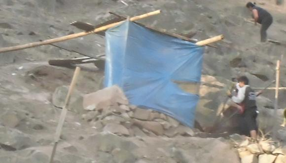 Invasores instalan chozas en zona intangible de cerro del Rímac
